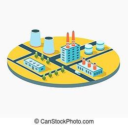 industrial, edificios