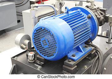 industrial, eléctrico, fuerte, moderno, motores, equipo