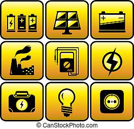 industrial, eléctrico, objetos