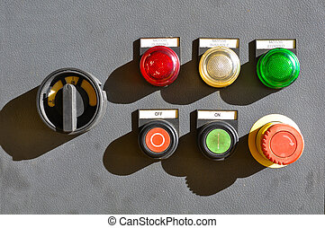 industrial electrical switch panel , Push button on control...