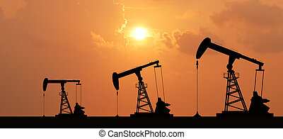 industrial, energia, petróleo, máquina, bomba, óleo,...