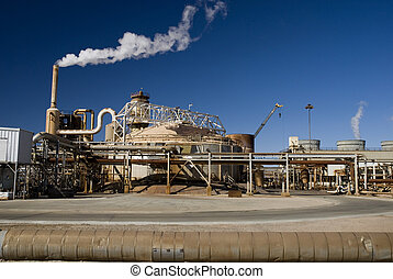 Industrial Energy Plant - Dirty, rusty rundown electrical...