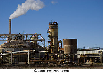 Industrial Energy Plant - Energy plant spewing toxins into...