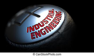 industrial, engenharia, ligado, vara engrenagem, com, vermelho, text.
