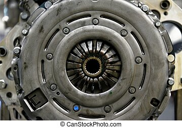 Industrial engine part of a machine