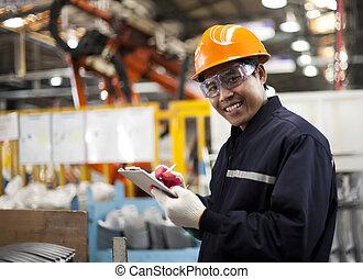Industrial engineer - Portrait asian engineer smiling look ...