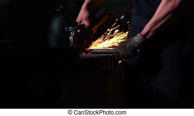 industrial engineer working on cutting a metal and steel...