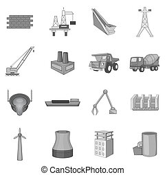 Industrial engineering icons set