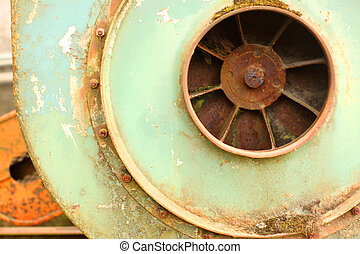 Industrial equipment - Old and weathered industrial ...