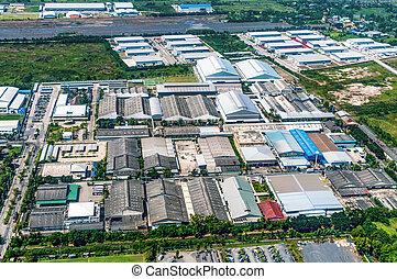Industrial Estate Land Development Construction Aerial View
