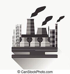 industrial, fábrica, v.2