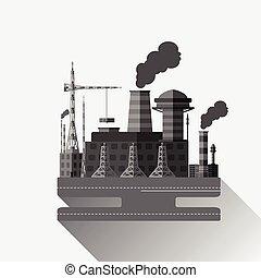 industrial, fábrica, v.4