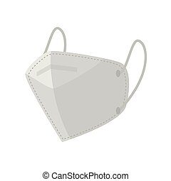 industrial face mask on white background