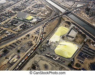 Industrial facilty aerial. - Aerial view of industrial...