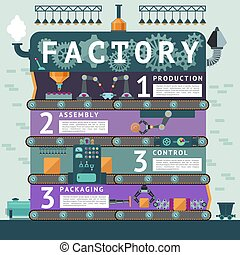 Industrial Factory Infographic Concept
