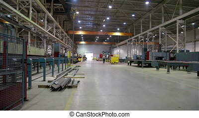 Industrial Factory. Metal production - Automated machine...