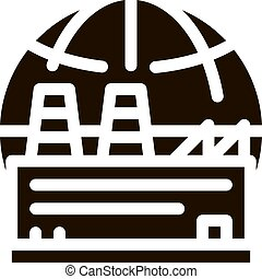 Industrial Factory Planet Vector Icon