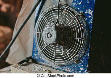 industrial fan close-up