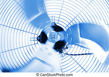 Industrial Fan - Close up shot of industrial fan while ...