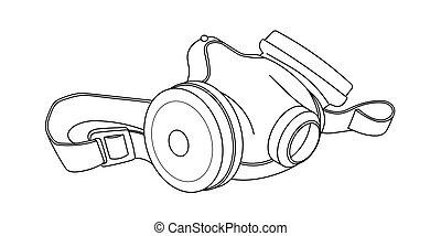industrial, filtros, equipamento, único, respirador,...