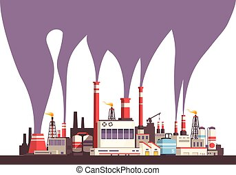 Industrial Flat Background - Industrial flat background with...