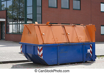 Industrial garbage bin - Lockable industrial garbage bin