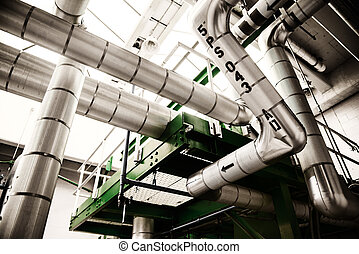 Industrial gas plant interior