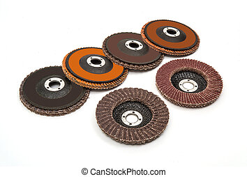 Industrial grinding and polishing wheels set