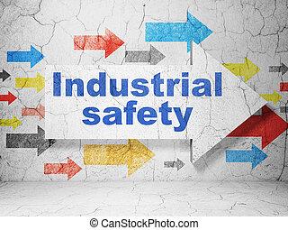 Industrial,  grunge, Seta, parede, construção, segurança, fundo,  concept: