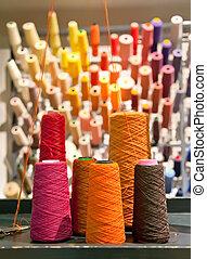 industrial, hilos, textil