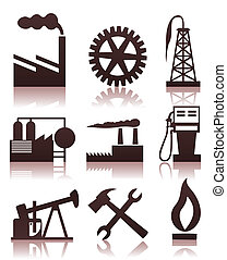 Industrial icons2 - Collection of icons on a theme the...