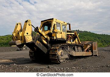 Industrial image of onstruction equipment. Bull-dozer shown ...