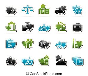industrial insurance icons