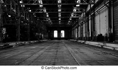 Industrial interior of an old build