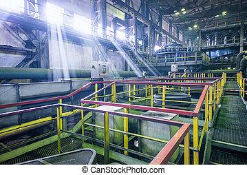 industrial interior of factory