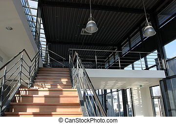 Industrial interior - staircase detail - Modern industrial ...