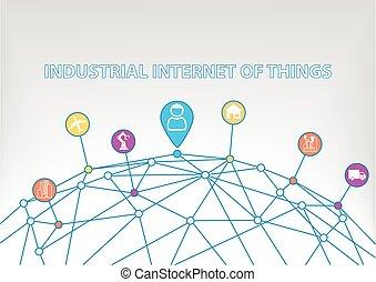 industrial, internet, de, cosas
