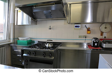 kitchen with stainless steel cookers