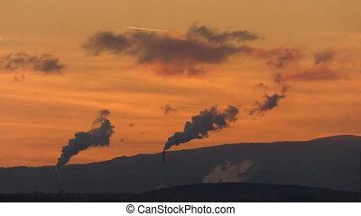 Industrial landscape 20x timelapse, Most, Czech Republic...