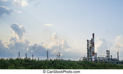Industrial landscape of oil refinery