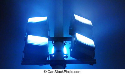 Industrial lights in blue color