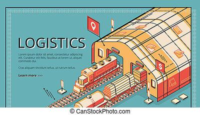 Industrial logistics company website