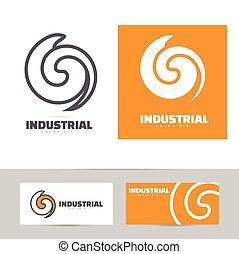 Industrial logo design concept