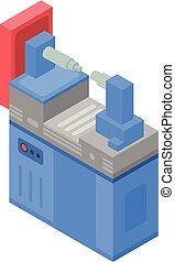 Industrial machine icon, isometric style