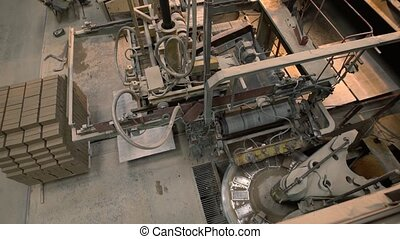 Industrial machinery in operating position - Construction...