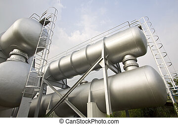 Industrial machines, pipes, tubes, machinery and steam...