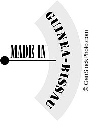 Industrial marking made in Guinea-Bissau, technical...