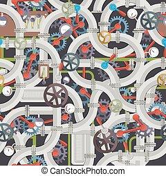 Industrial Mechanical Seamless Pattern