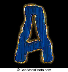 Industrial metal alphabet letter A 3D