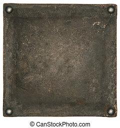 industrial metal plate background